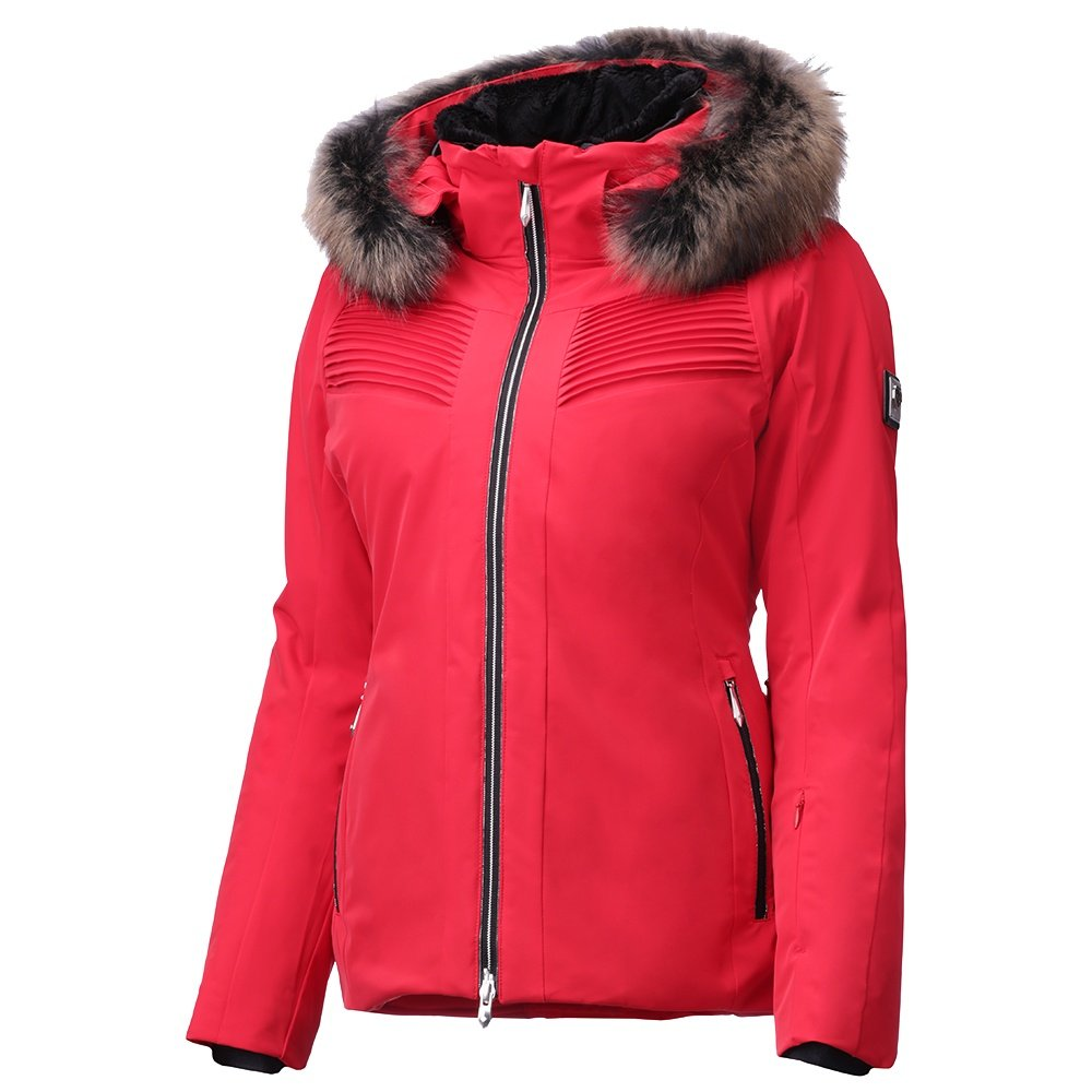 Descente Sofia Insulated Ski Jacket with Real Fur (Women's) - Electric Red