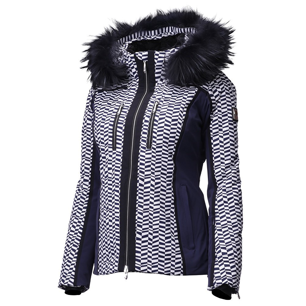 Descente Teagon Insulated Ski Jacket with Real Fur (Women's) - Dark Night