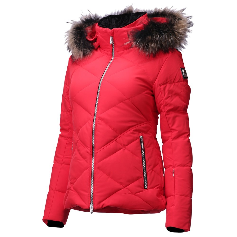 Descente Anabel Down Ski Jacket with Faux Fur (Women's) - Electric Red