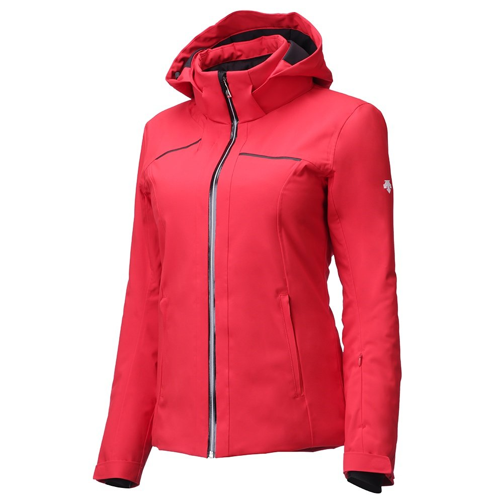 Descente Ashley Insulated Ski Jacket (Women's) - Electric Red/Super White/Black