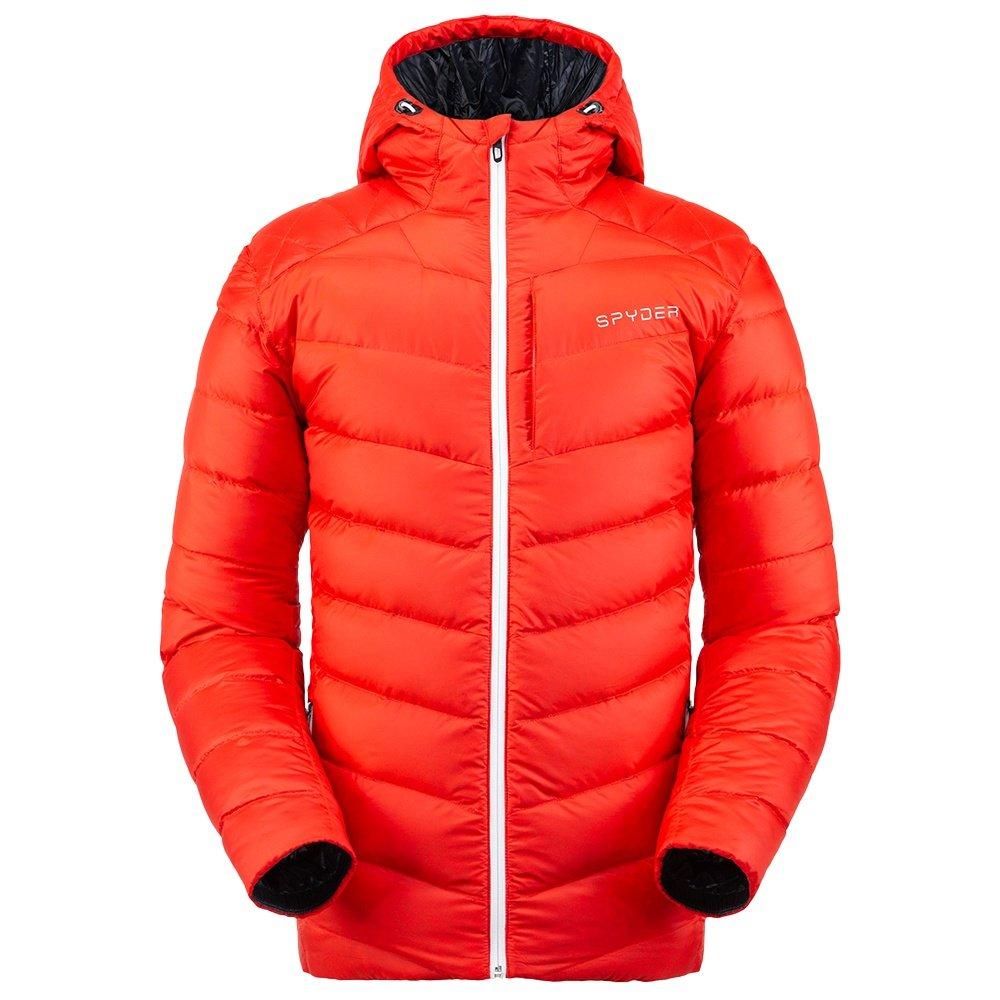 Spyder Timeless Hoodie Down Insulator Jacket (Men's) - Volcano