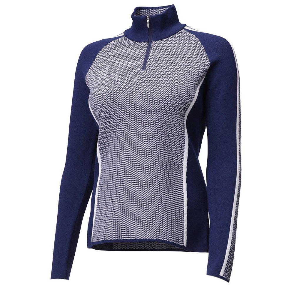 Descente Eden 1/4-Zip Sweater (Women's) - Dark Night/Super White
