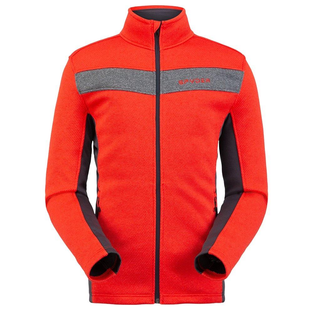 Spyder Encore Full Zip Fleece Jacket (Men's) - Volcano