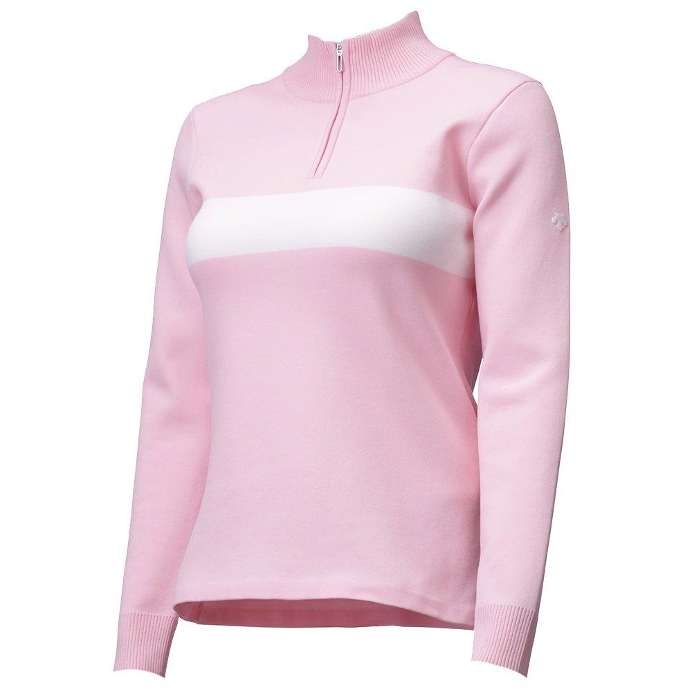 Descente Miriam 1/4-Zip Sweater (Women's) - Blush Pink/Super White