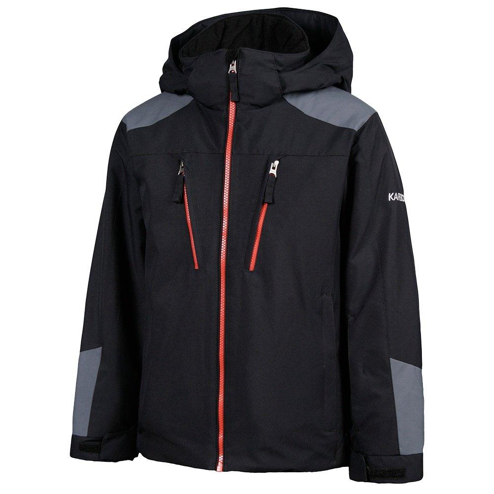 Karbon Maverick Insulated Ski Jacket (Boys') - Black/Charcoal/Red