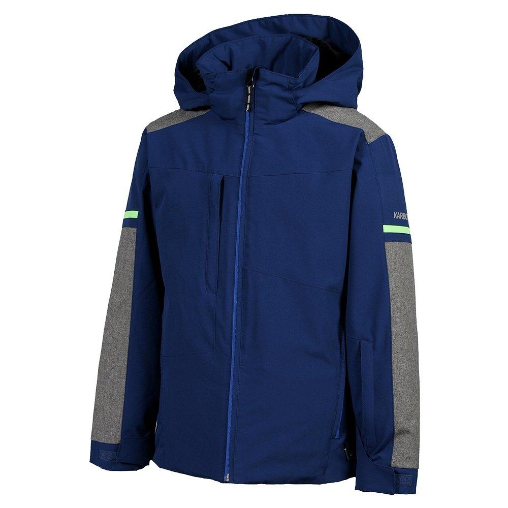 Karbon Exhaust Insulated Ski Jacket (Boys') - Navy/Heather Grey/Lime