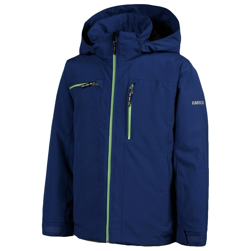 Karbon Brake Insulated Ski Jacket (Boys') - Navy/Lime