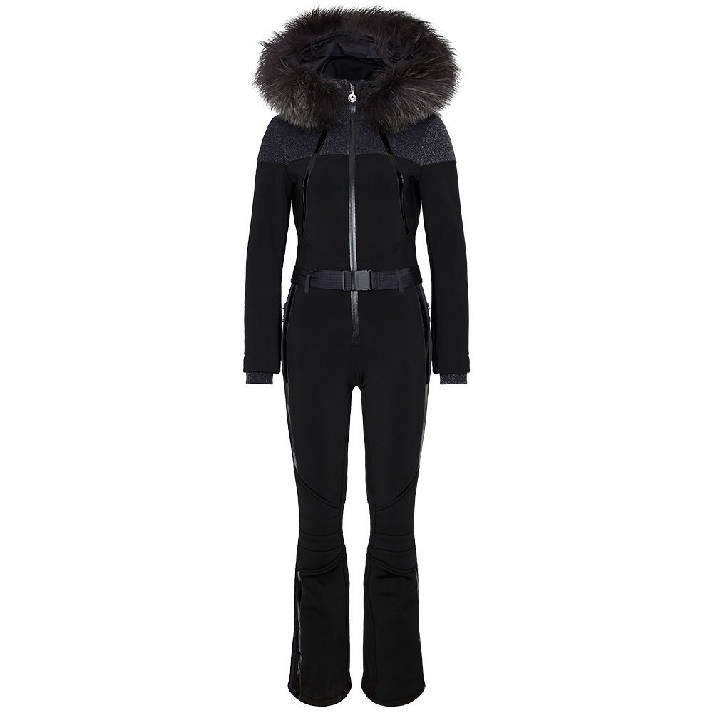Sportalm Xum Ski Suit with Real Fur (Women's) - Black