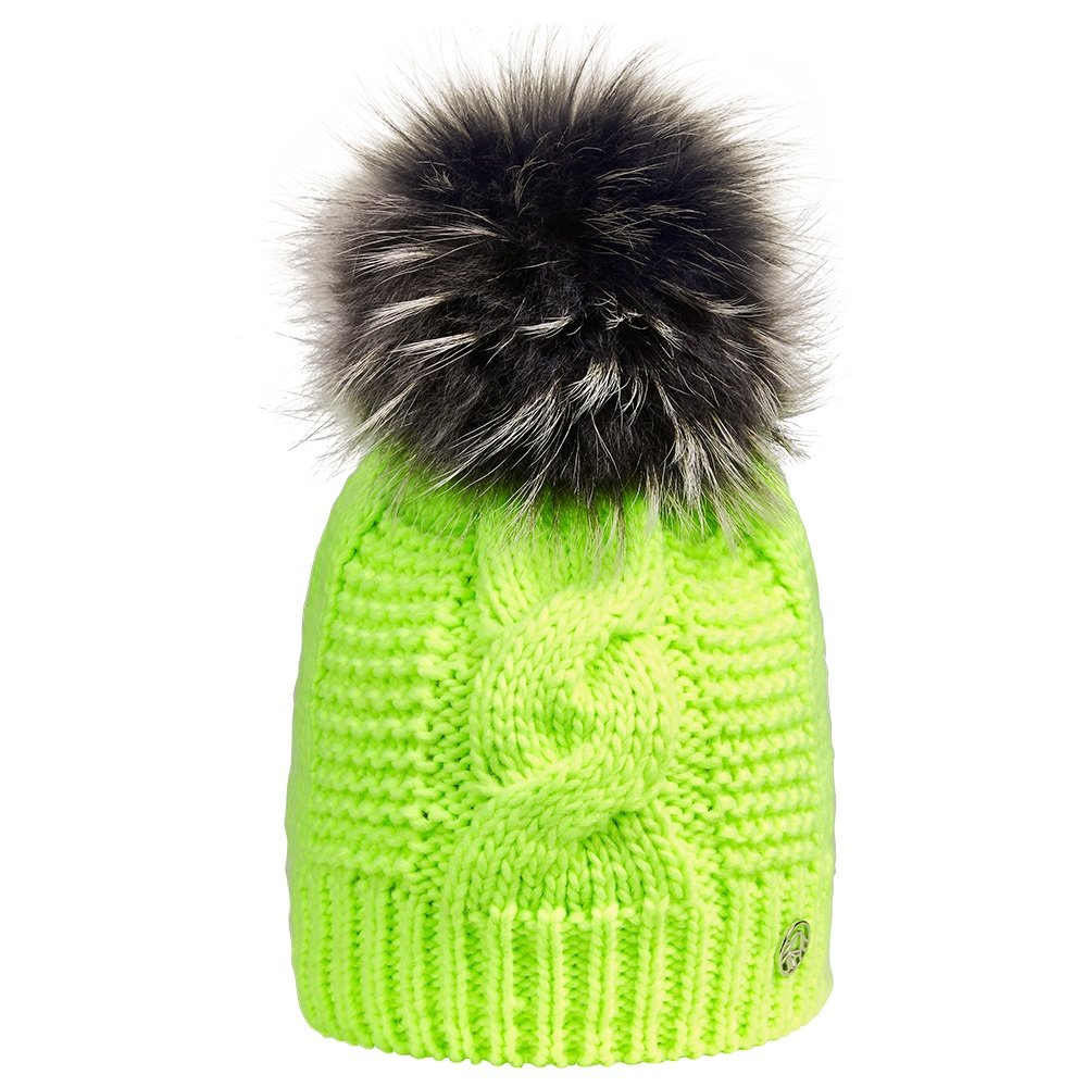 Sportalm Baden Beanie with Real Fur (Women's) - Bang Yellow