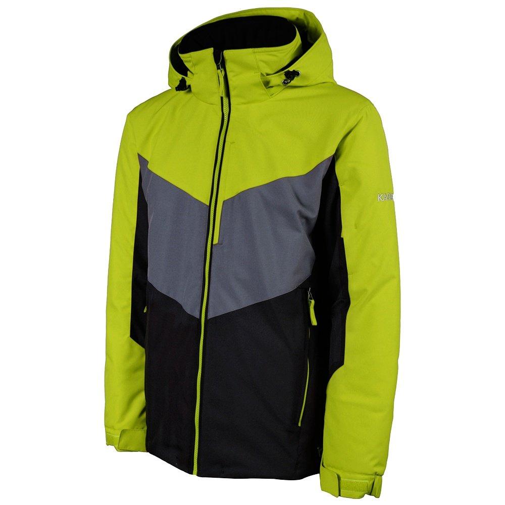 Karbon Pluto Insulated Ski Jacket (Men's) - Lime/Black/Charcoal
