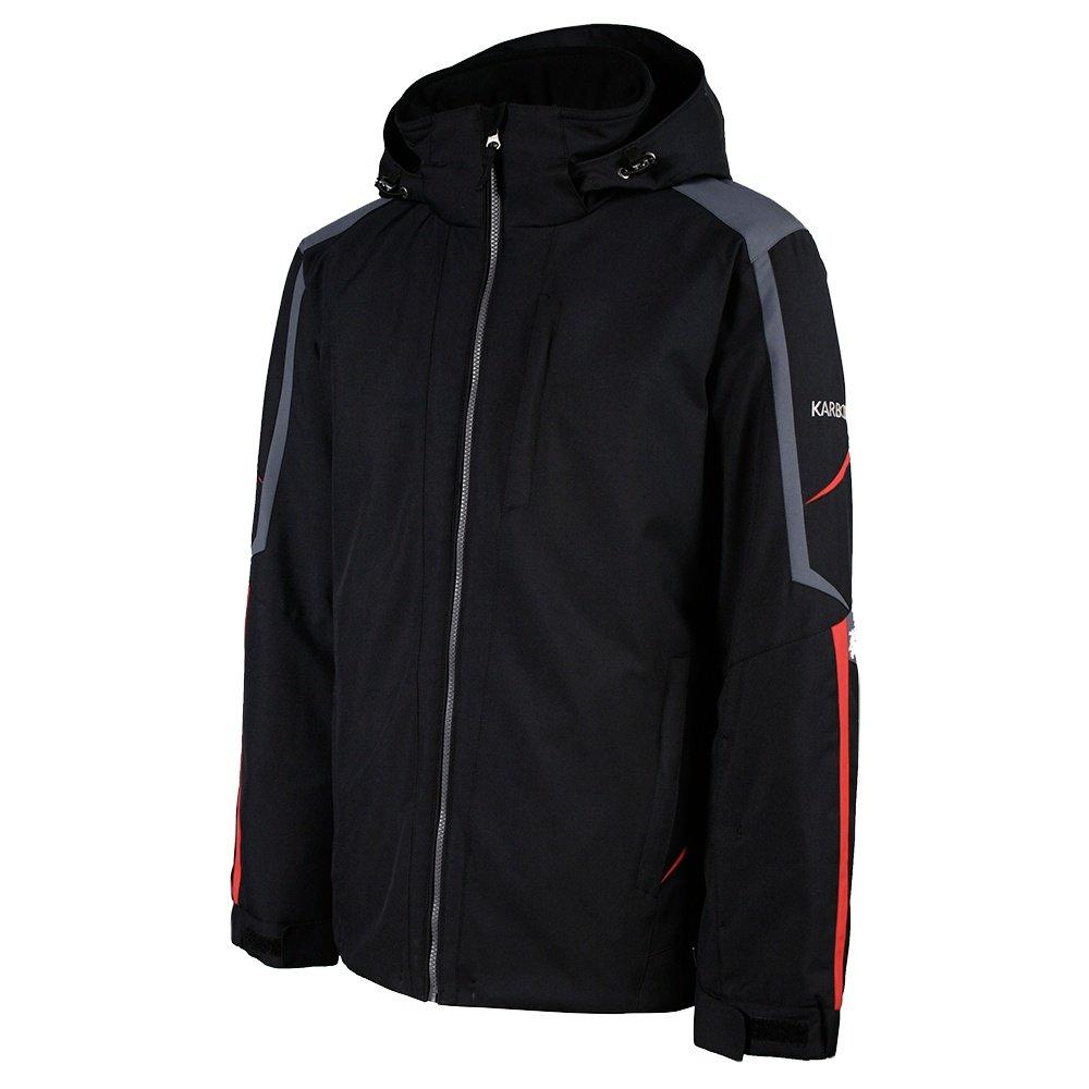 Karbon Saturn Insulated Ski Jacket (Men's) - Black/Charcoal/Red