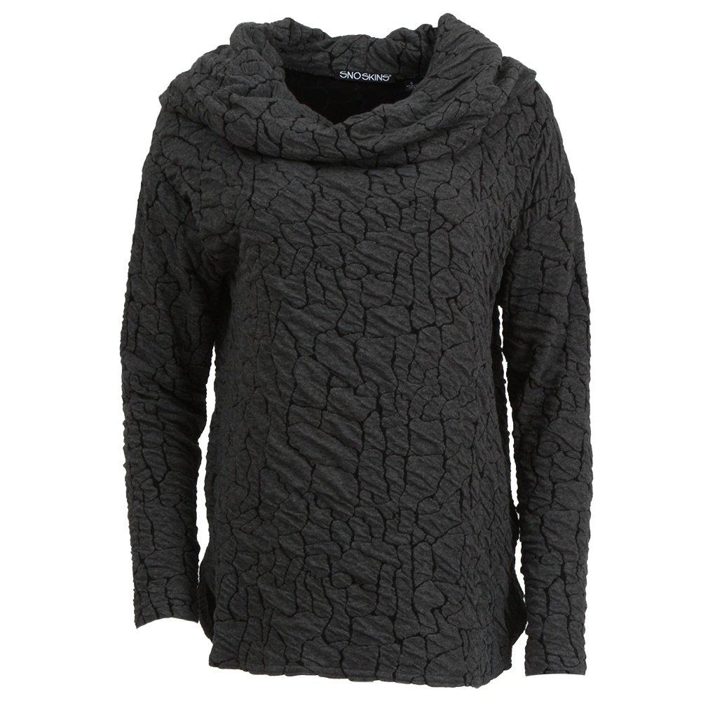 Sno Skins Portrait Collar Cowl Shirt (Women's) - Charcoal/Grey