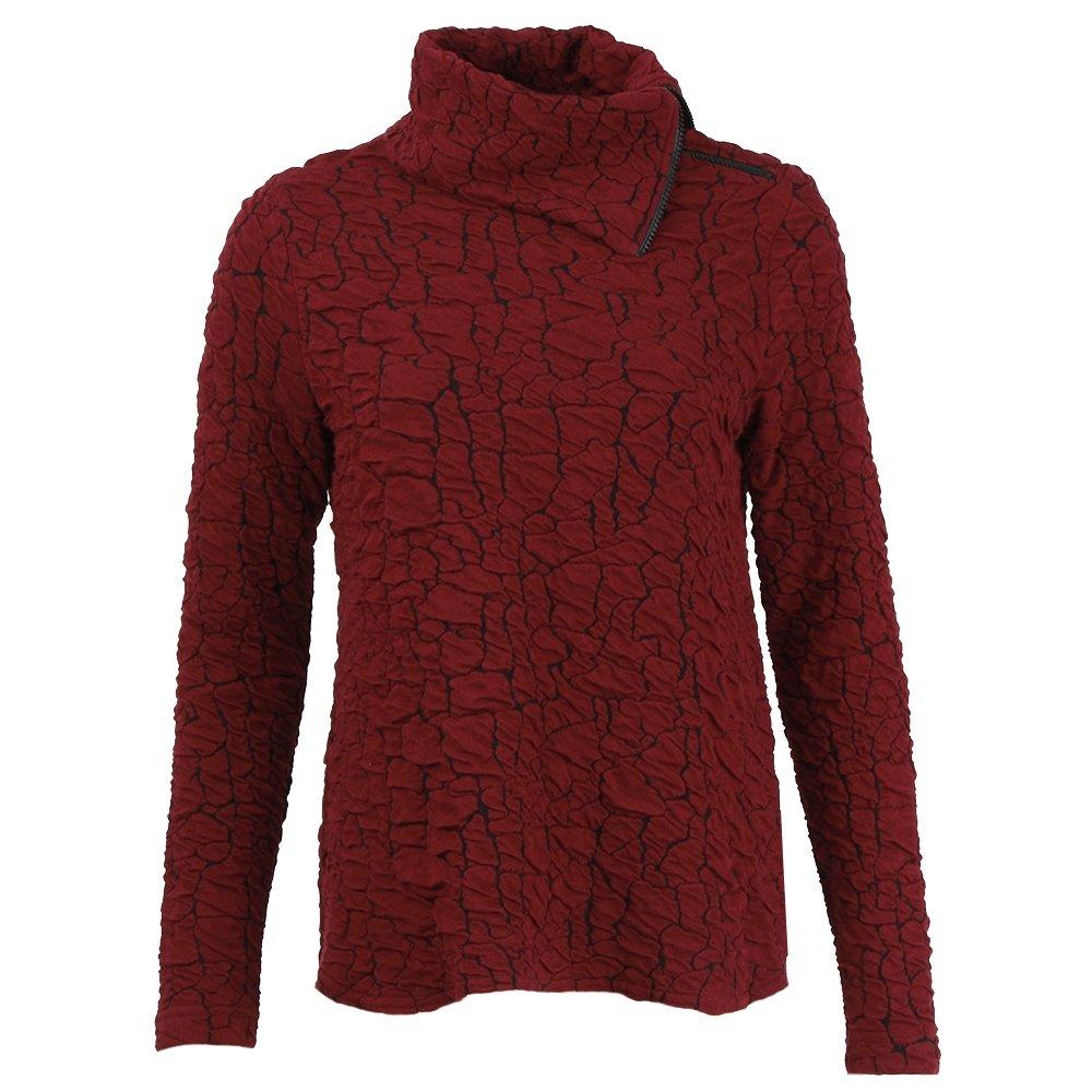 Sno Skins Asymmetrical Zip Cowl Shirt (Women's) - Cranberry