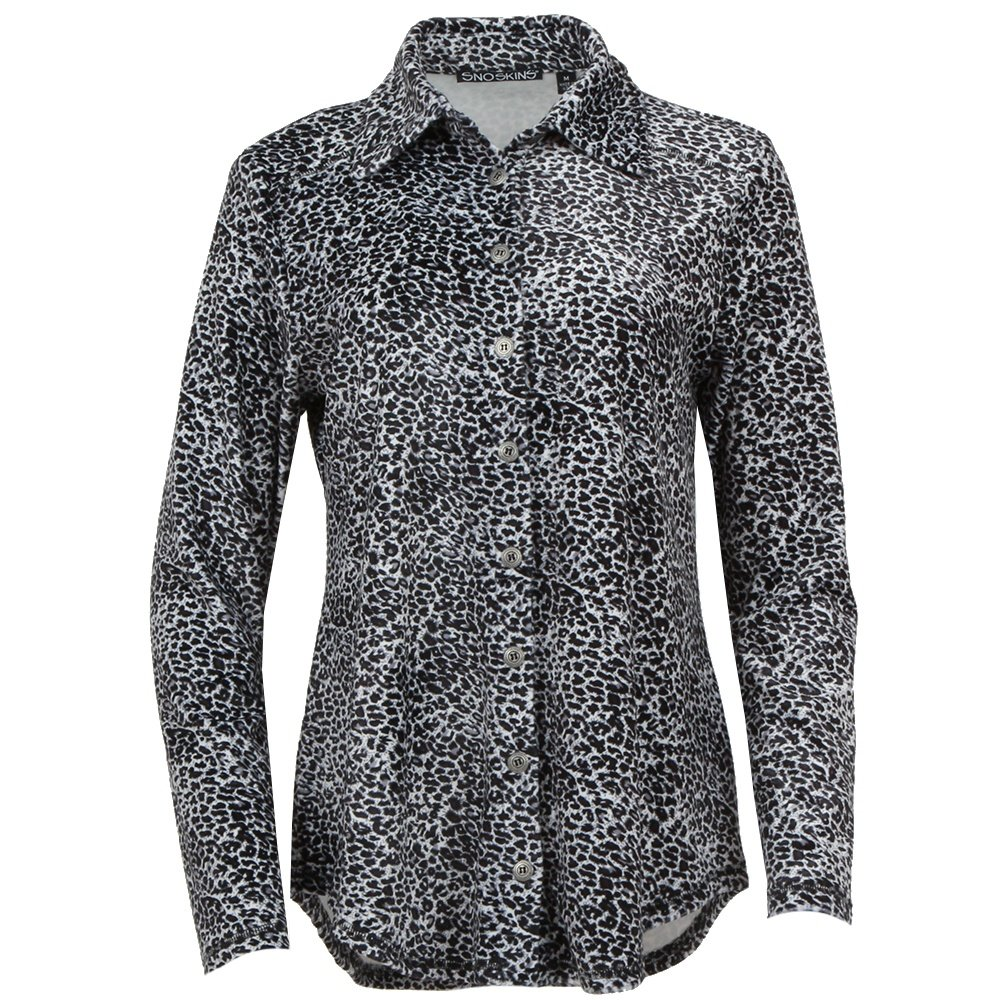Sno Skins Cozy Fleece Button Shirt (Women's) - Cheetah