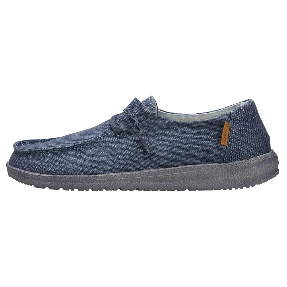 Hey Dude Wendy Chambray Shoe (Women's) - Navy/White