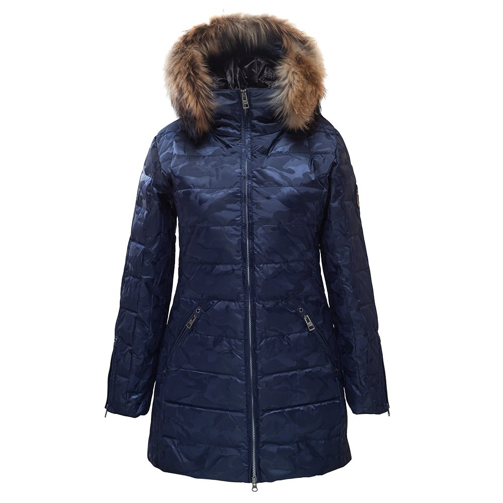 Skea Annabelle Insulated Coat with Real Fur (Women's) - Navy Camo