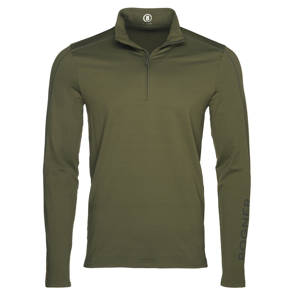 Bogner Harrison 1/4-Zip Turtleneck Mid-Layer (Men's) - Dark Olive