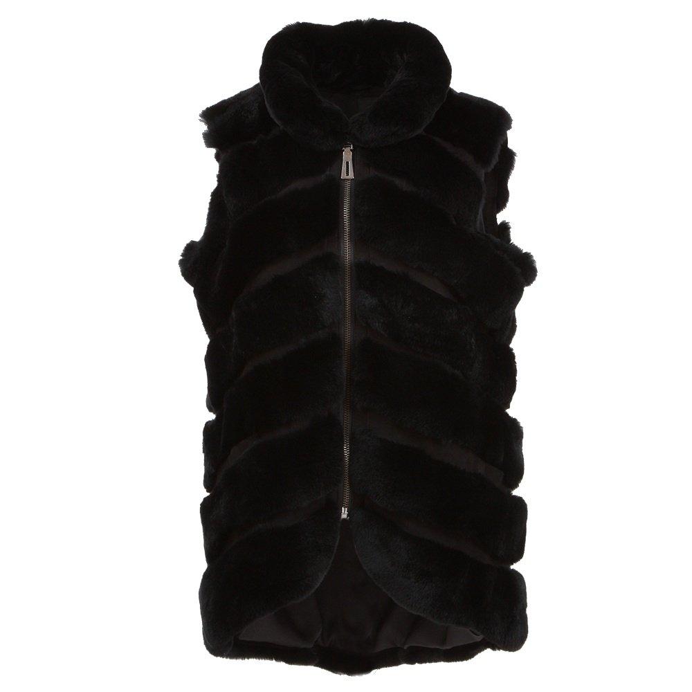 Peter Glenn Rabbit and Suede Vest (Women's) - Black
