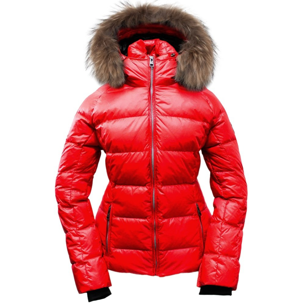 Skea Eve Down Ski Jacket with Real Fur (Women's) - Red