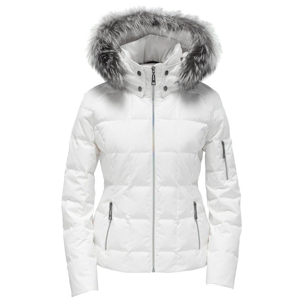 Skea Lindsay Down Ski Jacket with Real Fur (Women's) - White
