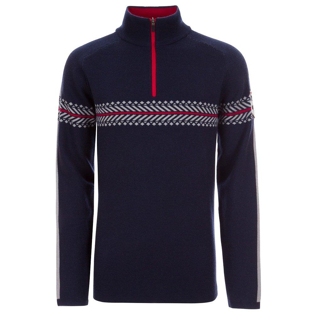 Meister Alex 1/4-Zip Sweater (Men's) - Deep Navy/Signal Red