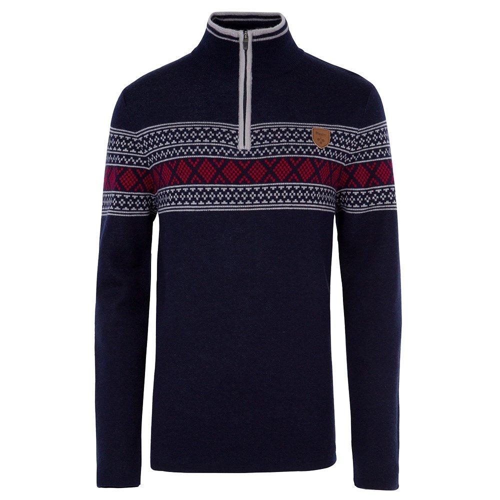 Meister Pablo 1/4-Zip Sweater (Men's) - Deep Navy/Gray/Red