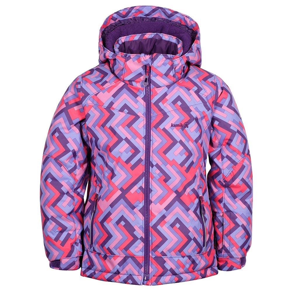 Kamik Tessie-Grid Insulated Ski Jacket (Little Girls') - Grape