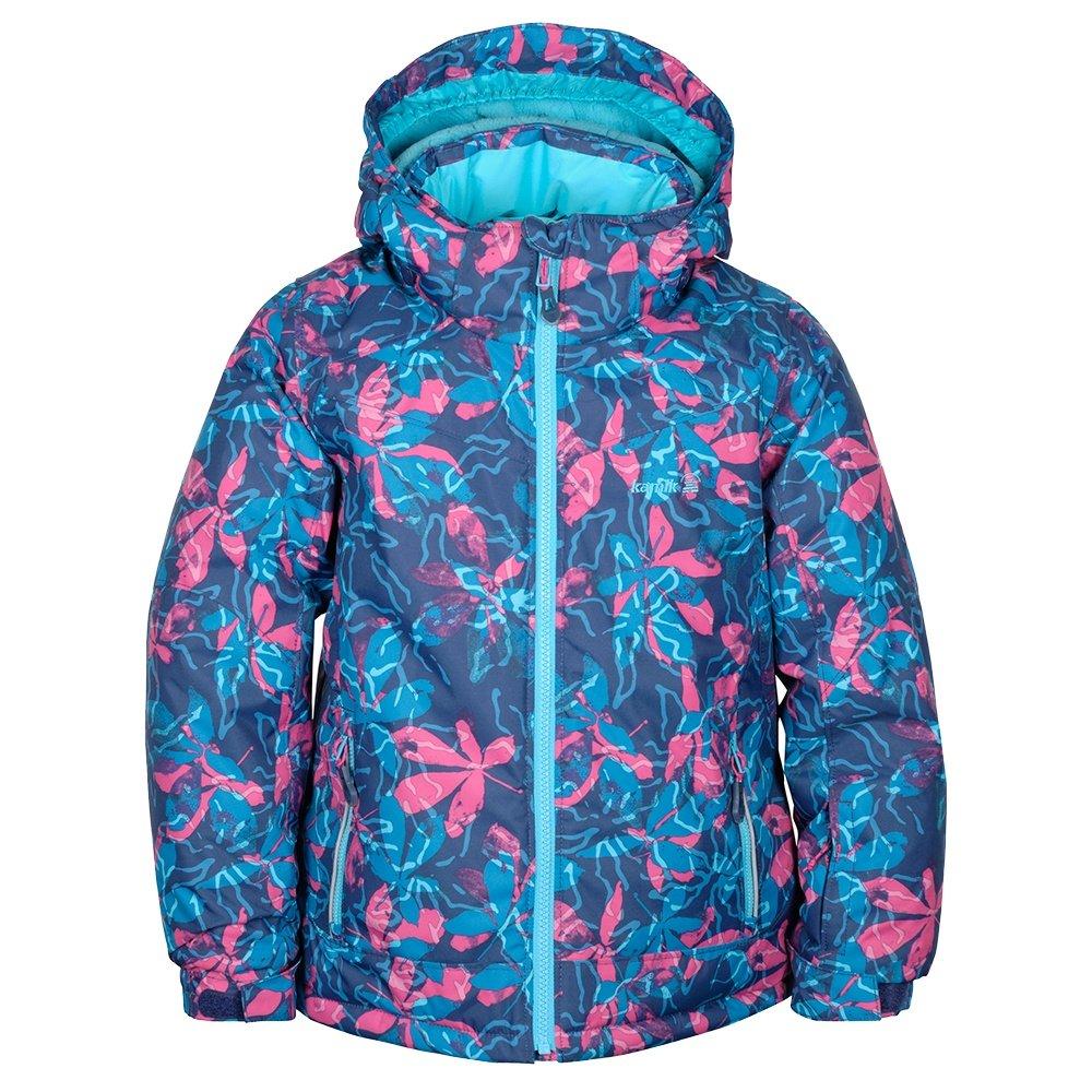 Kamik Tessie-Posies Insulated Ski Jacket (Little Girls') - Navy/Pink