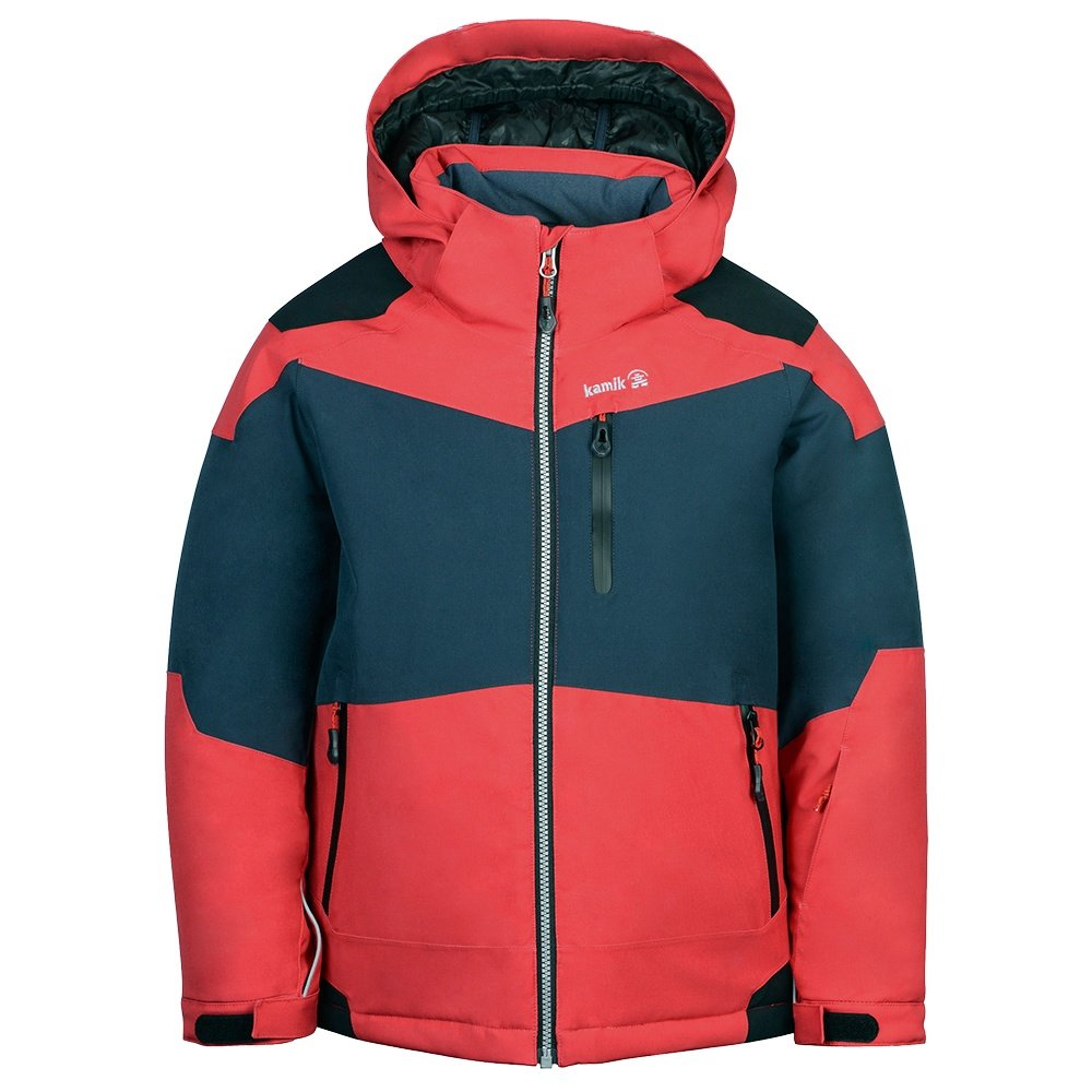 Kamik Reeve Insulated Ski Jacket (Boys') - Red/Charcoal