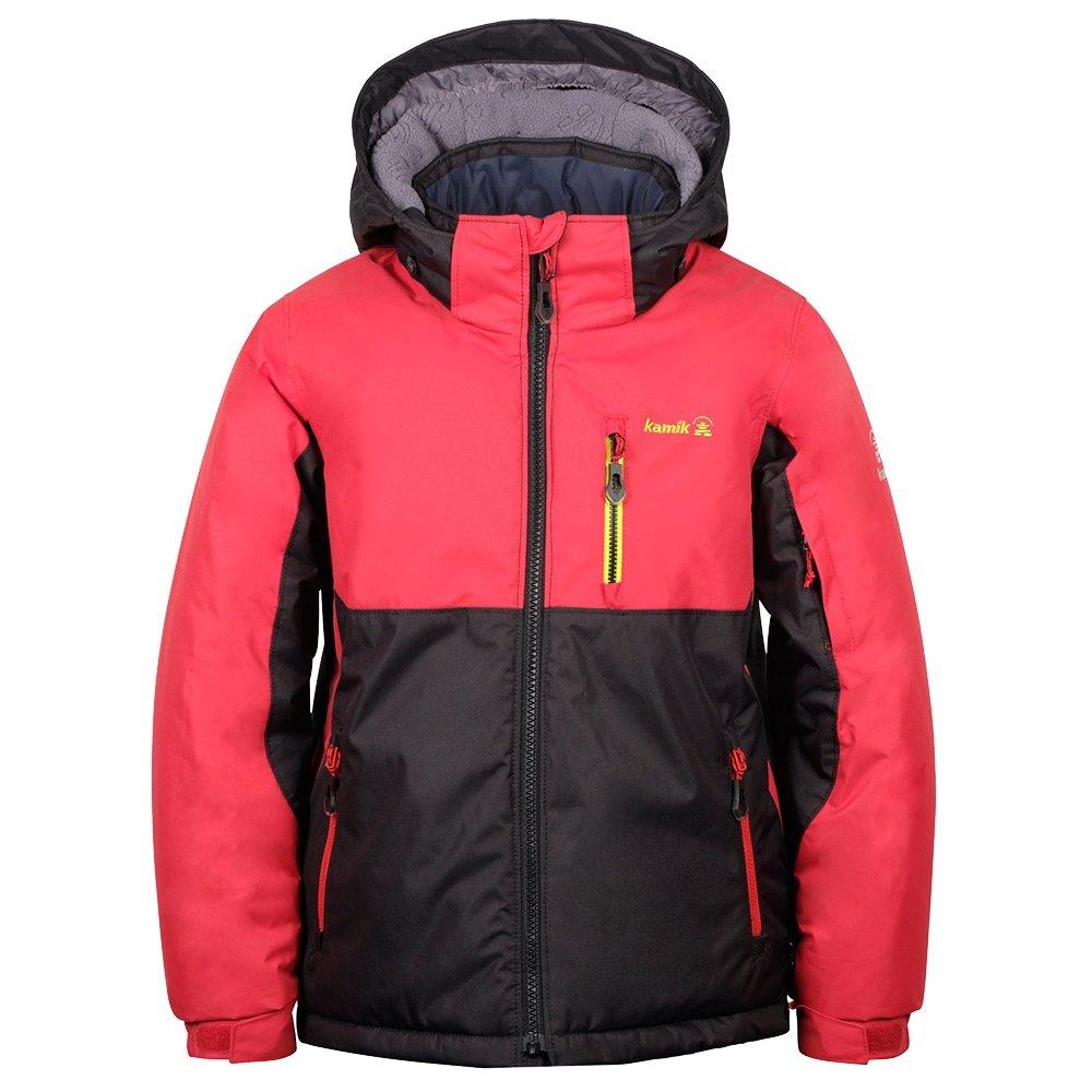 Kamik Finn Insulated Ski Jacket (Boys') - Red/Black