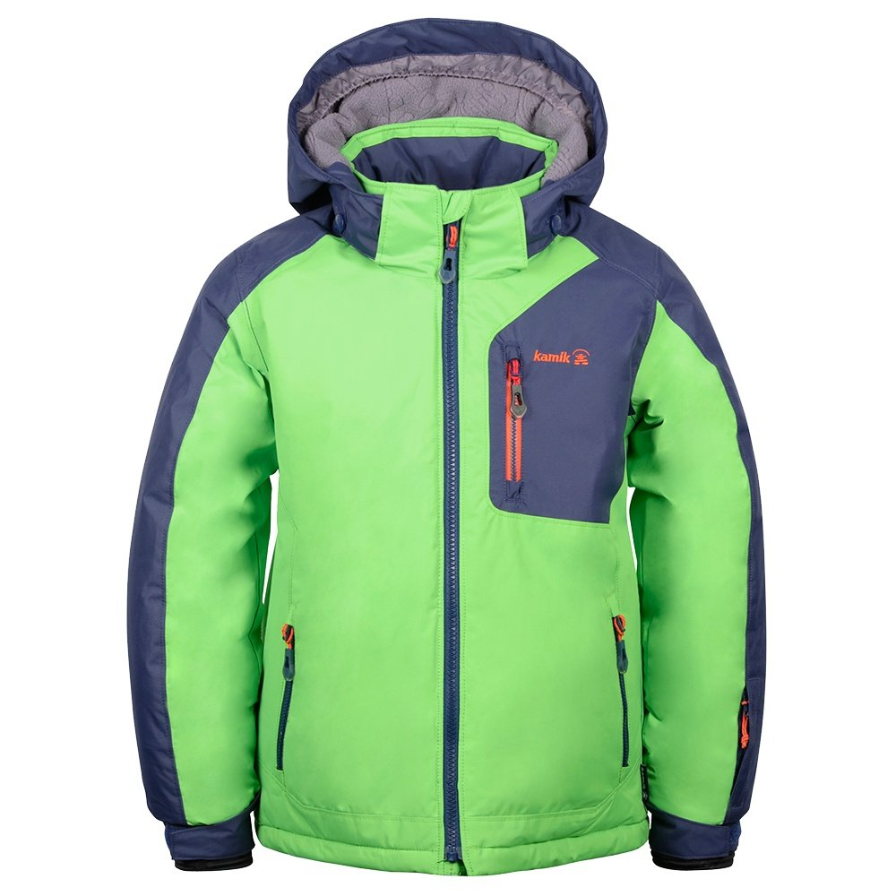 Kamik Hudson Insulated Ski Jacket (Little Boys') - Lime/Navy