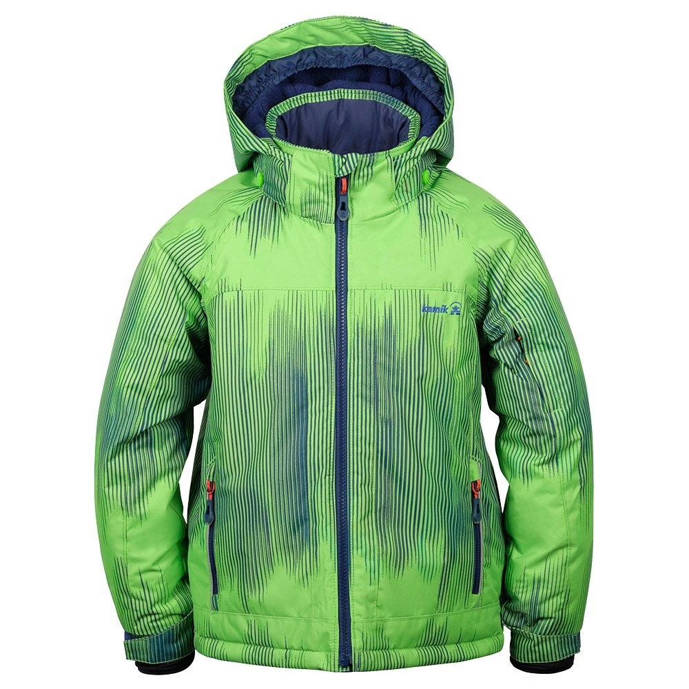 Kamik Rusty Bamboom Insulated Ski Jacket (Little Boys') - Lime/Navy