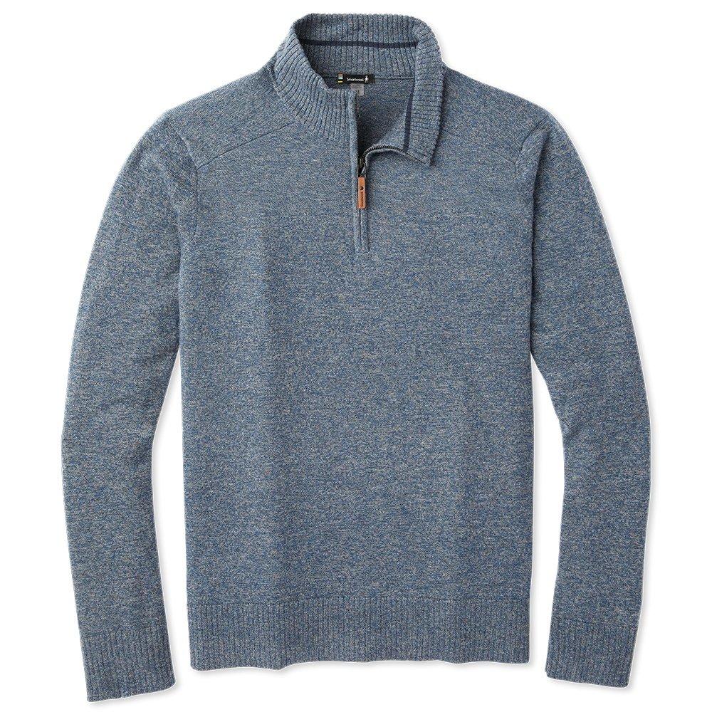 Smartwool Sparwood 1/2-Zip Sweater (Men's) - Alpine Blue/Medium Gray