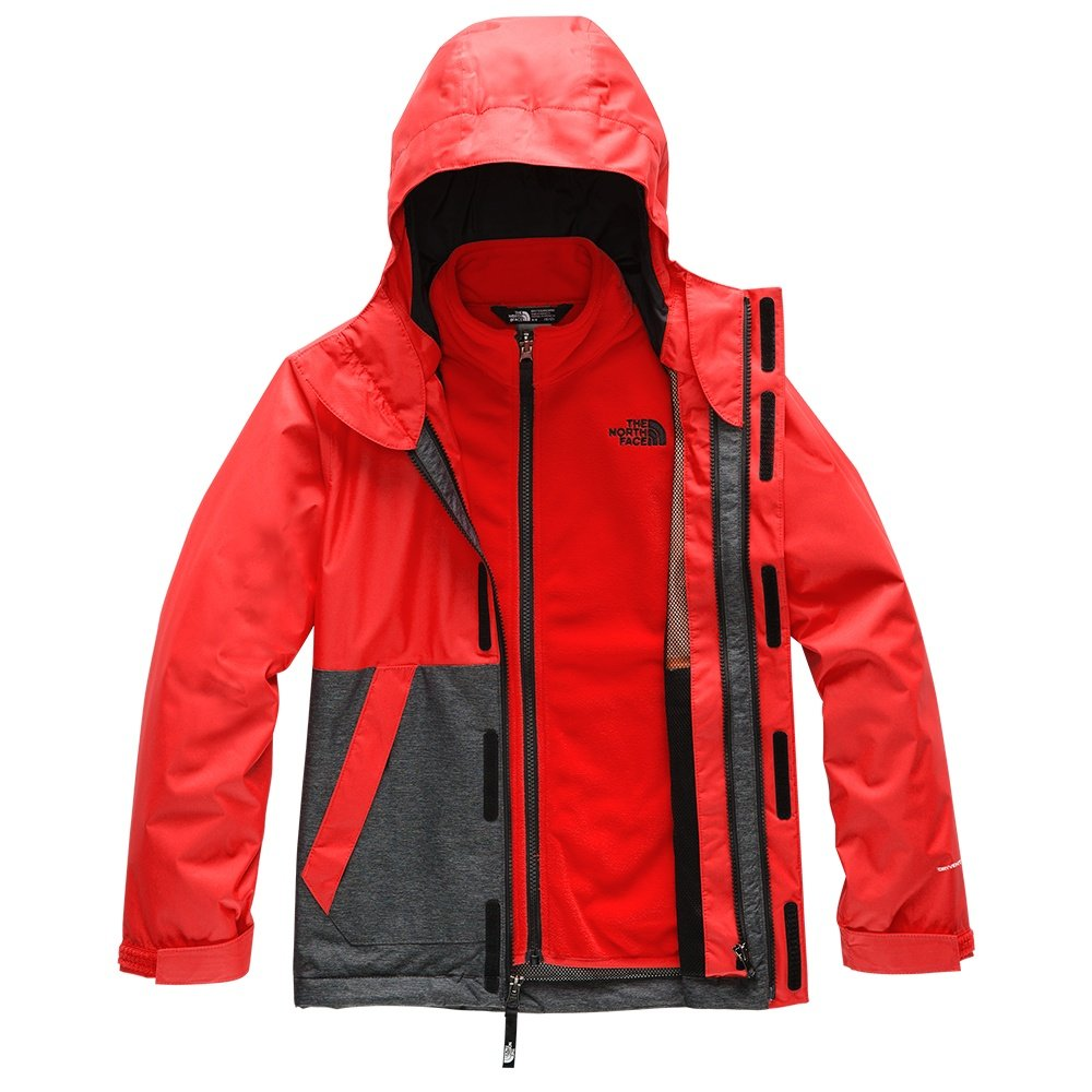 The North Face Vortex Triclimate Ski Jacket (Boys') - Fiery Red