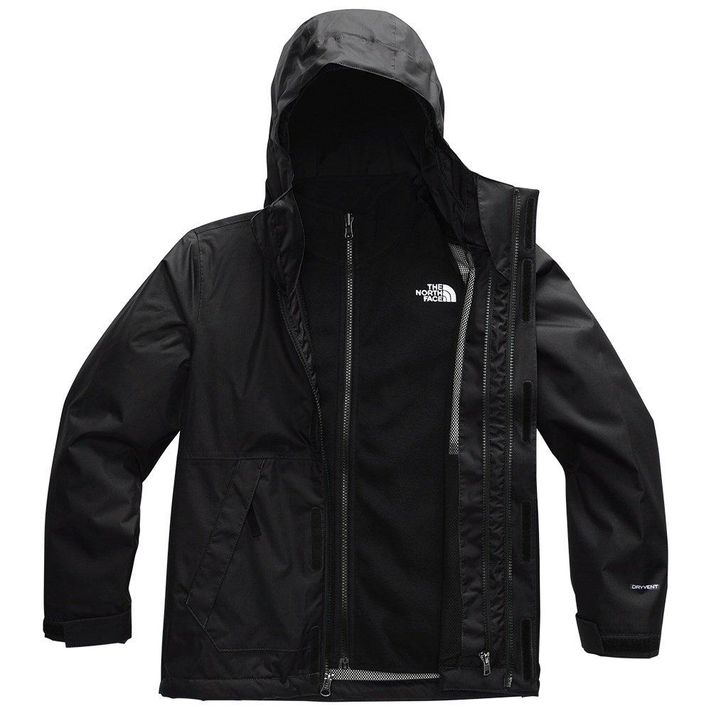 The North Face Vortex Triclimate Ski Jacket (Boys') - TNF Black/TNF White