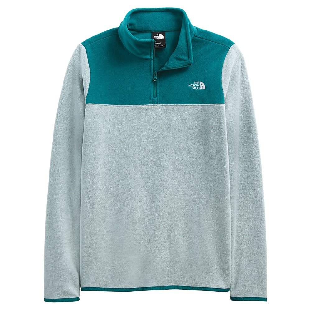 The North Face TKA Glacier 1/4-Zip Mid-Layer (Women's) - Silver Blue/Shaded Spruce