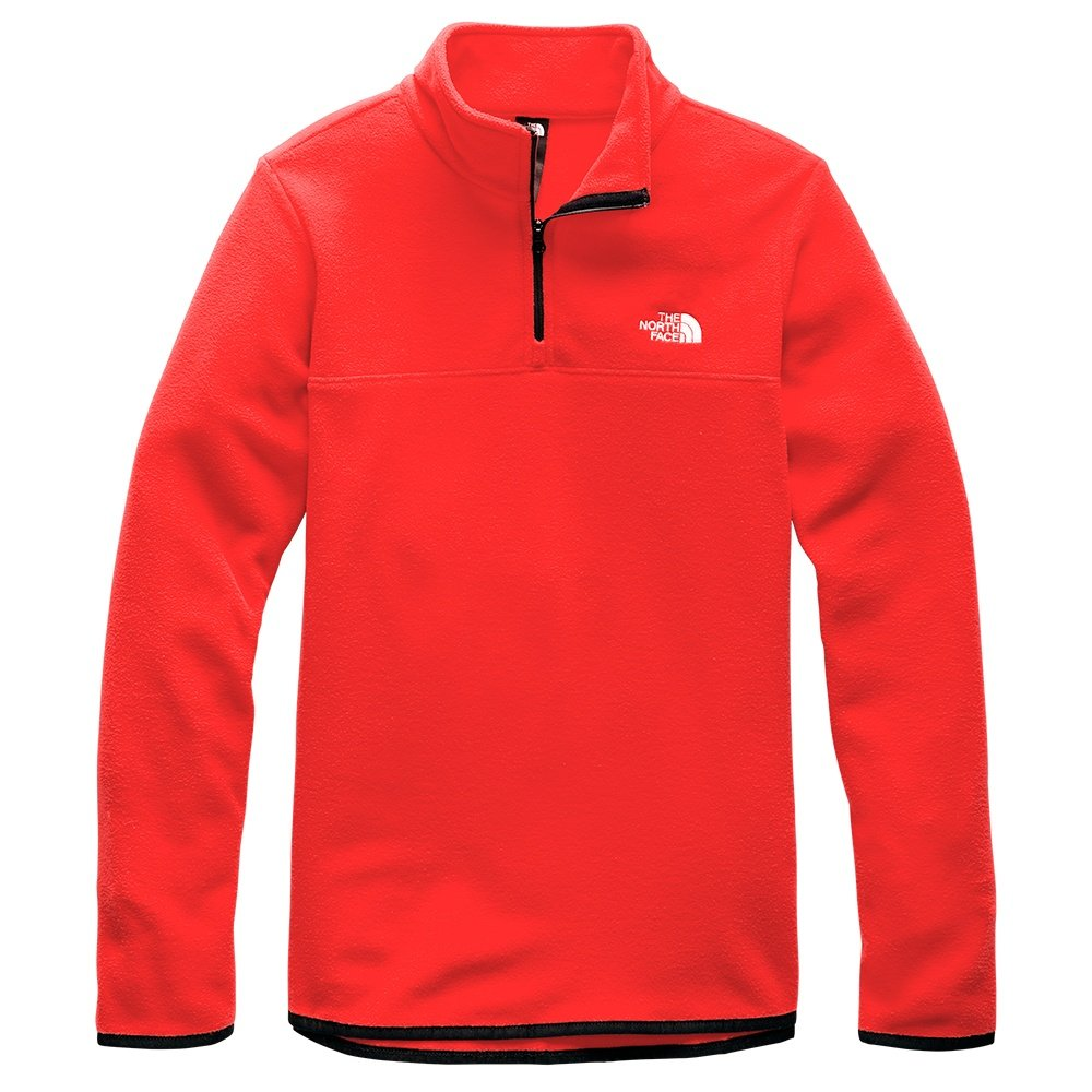 The North Face TKA Glacier 1/4-Zip Mid-Layer (Women's) - Fiery Red
