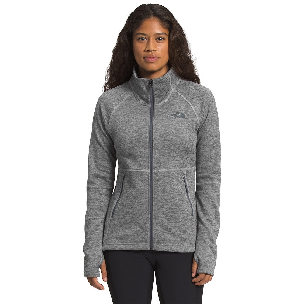 The North Face Canyonlands Full Zip Sweater (Women's) - TNF Medium Grey Heather