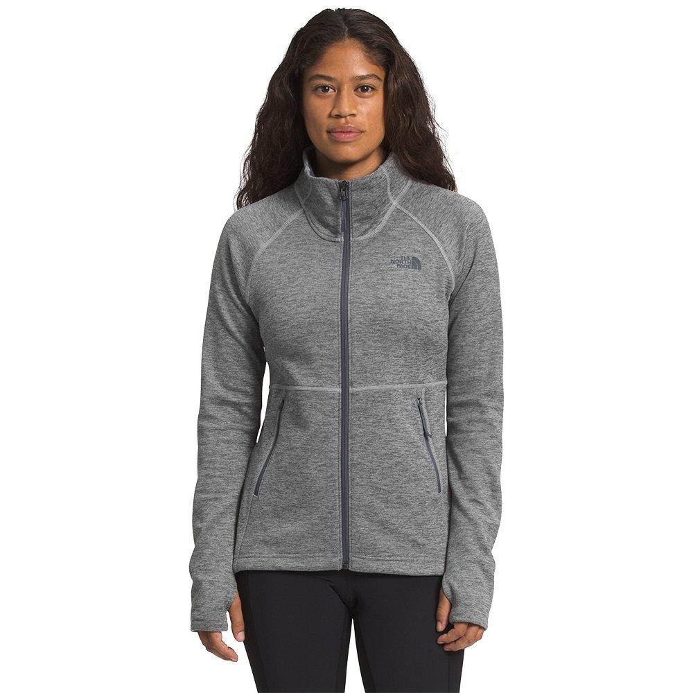 The North Face Canyonlands Full Zip Sweater (Women's) - TNF Medium Grey Heather