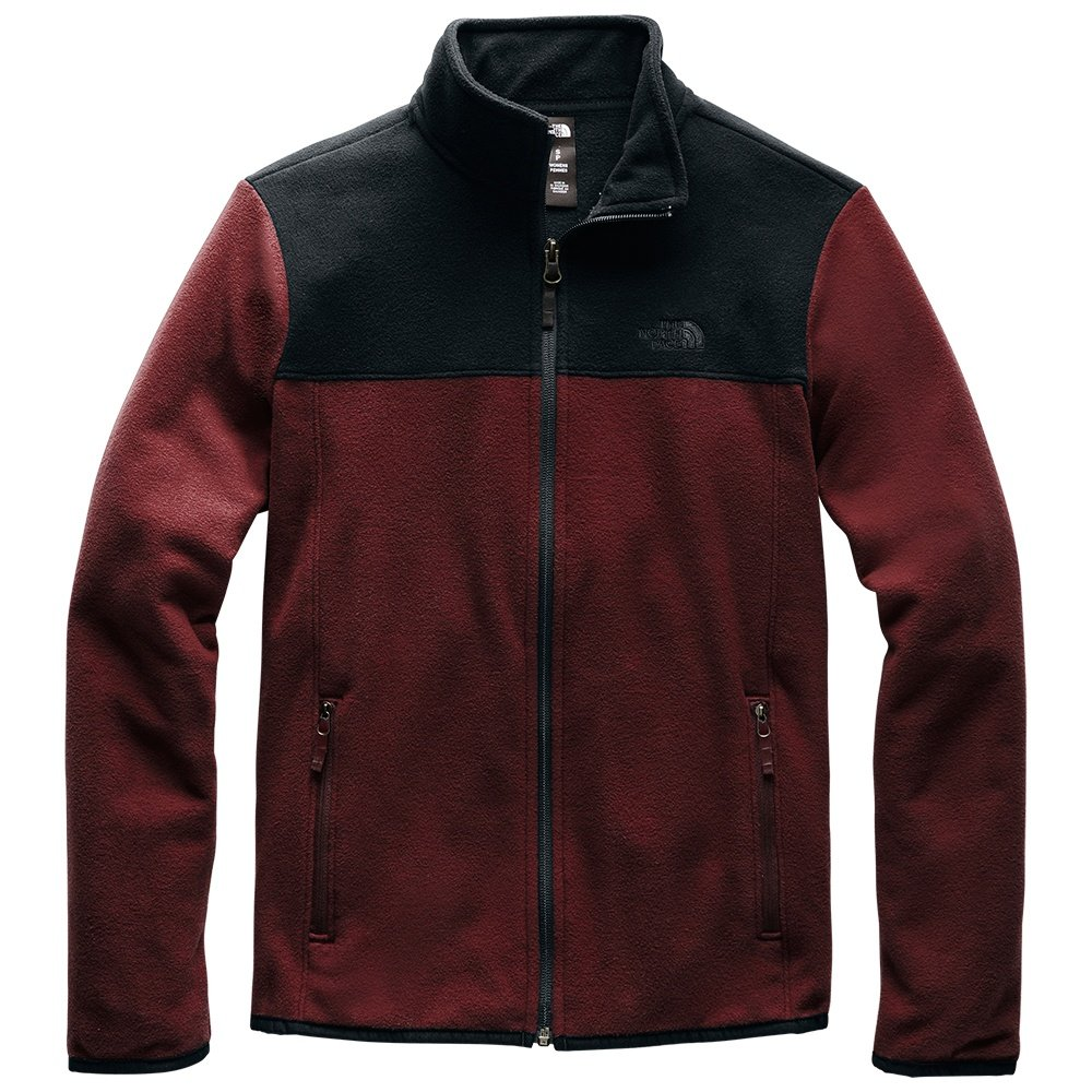 The North Face TKA Glacier Full Zip Jacket (Women's) - Deep Garnet Red/TNF Black