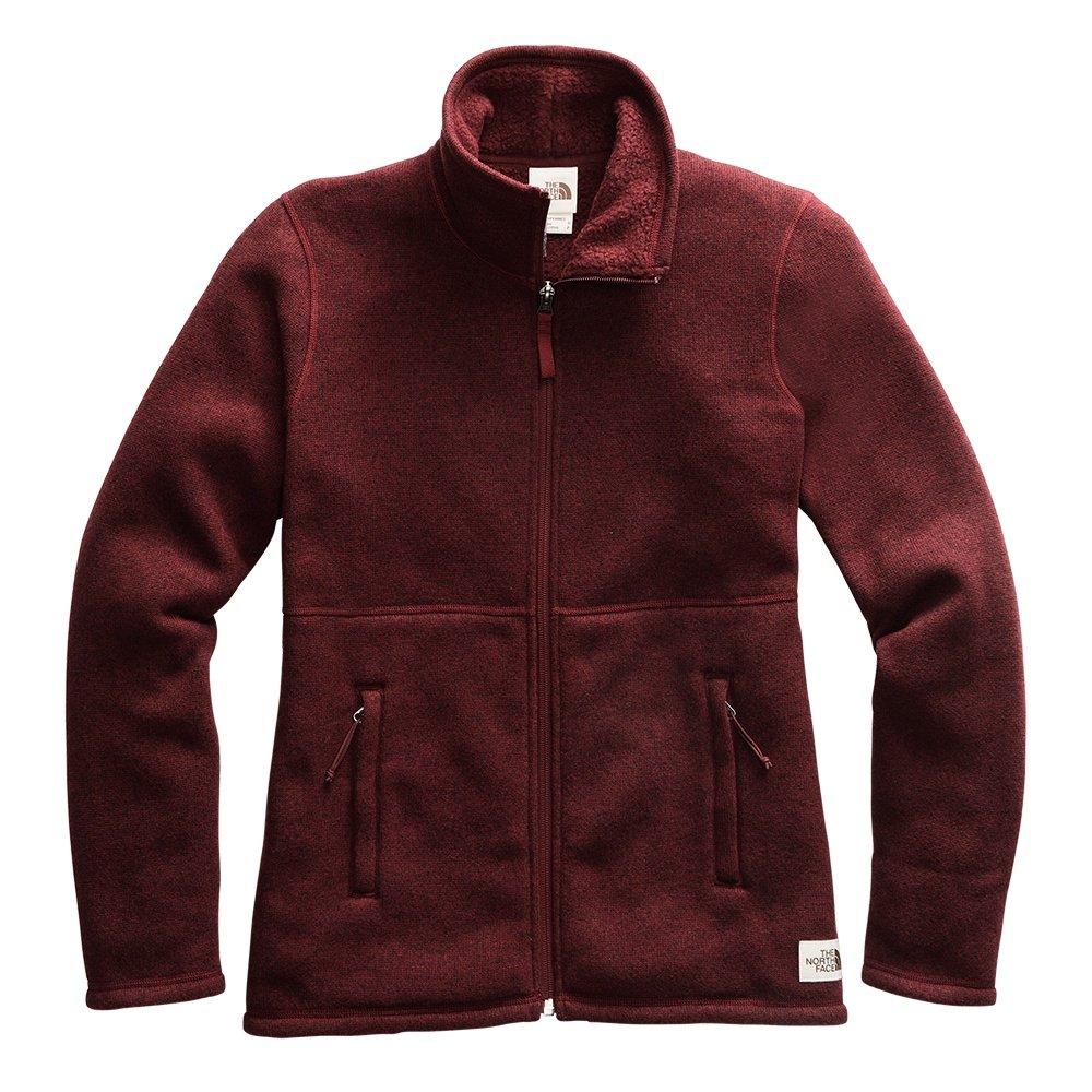 The North Face Crescent Full Zip Sweater (Women's) - Deep Garnet Red Heather