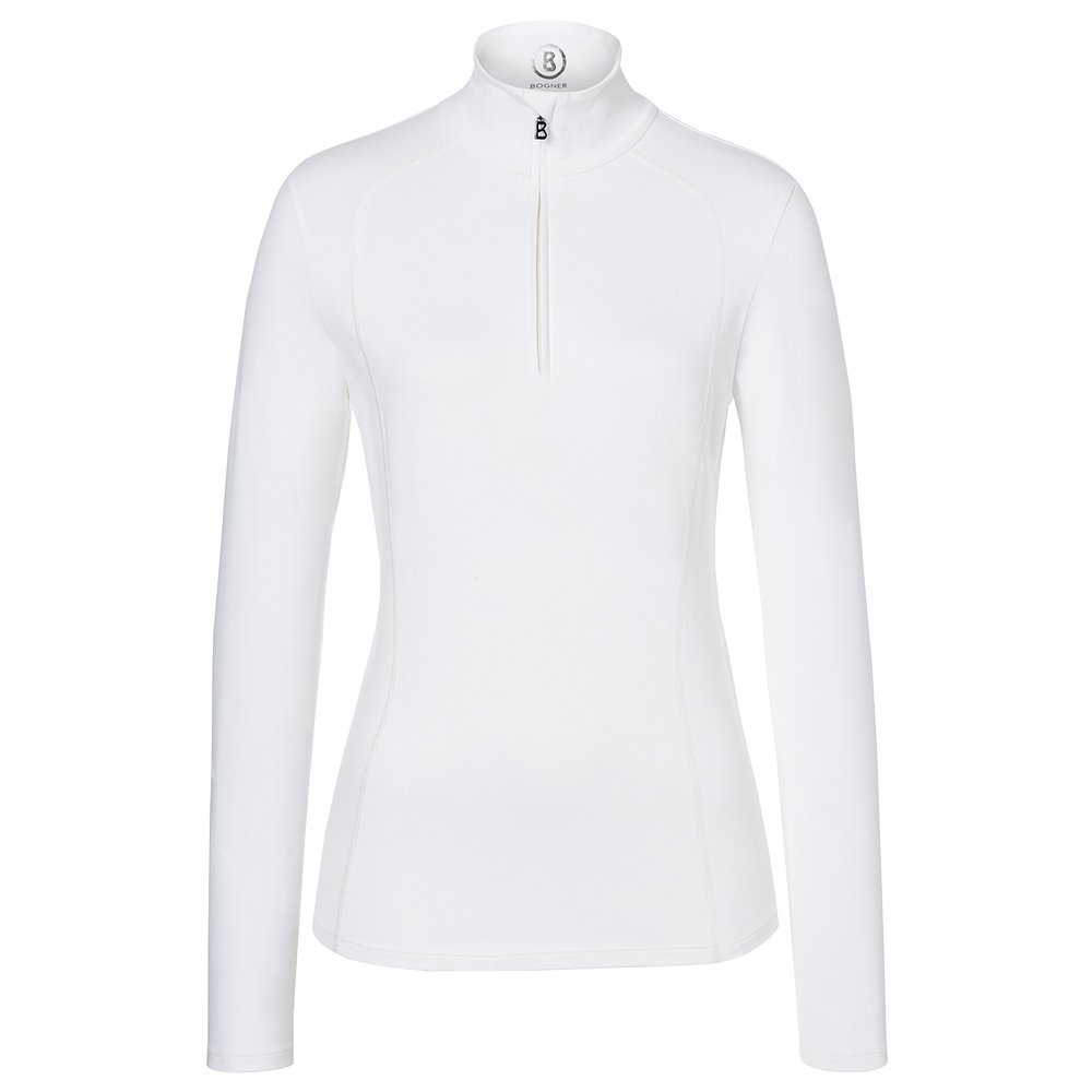 Bogner Madita 1/4-Zip Mid-Layer Turtleneck (Women's) - Off White