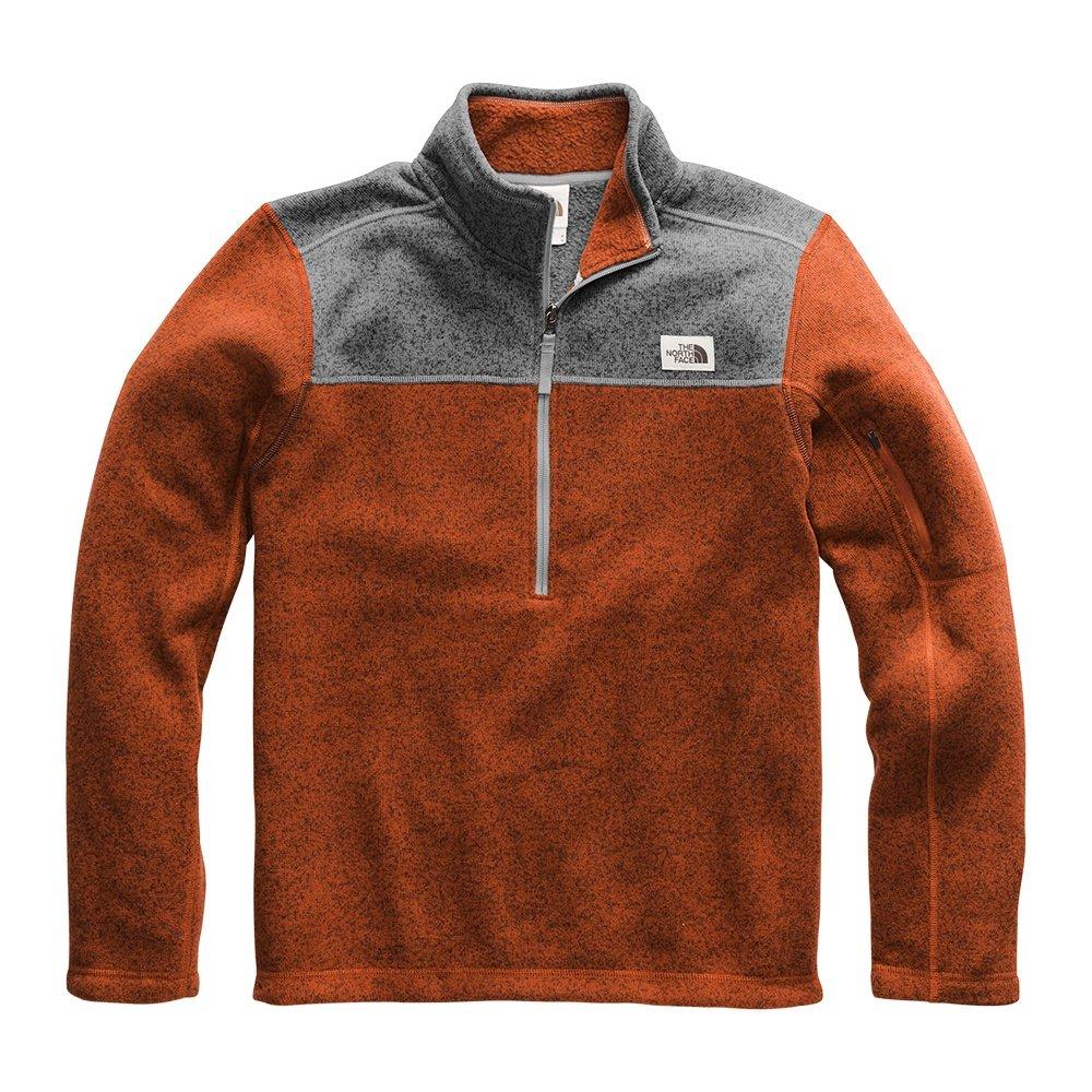 The North Face Gordon Lyons 1/4-Zip Fleece Mid-Layer (Men's) - Picante Red/TNF Medium Grey