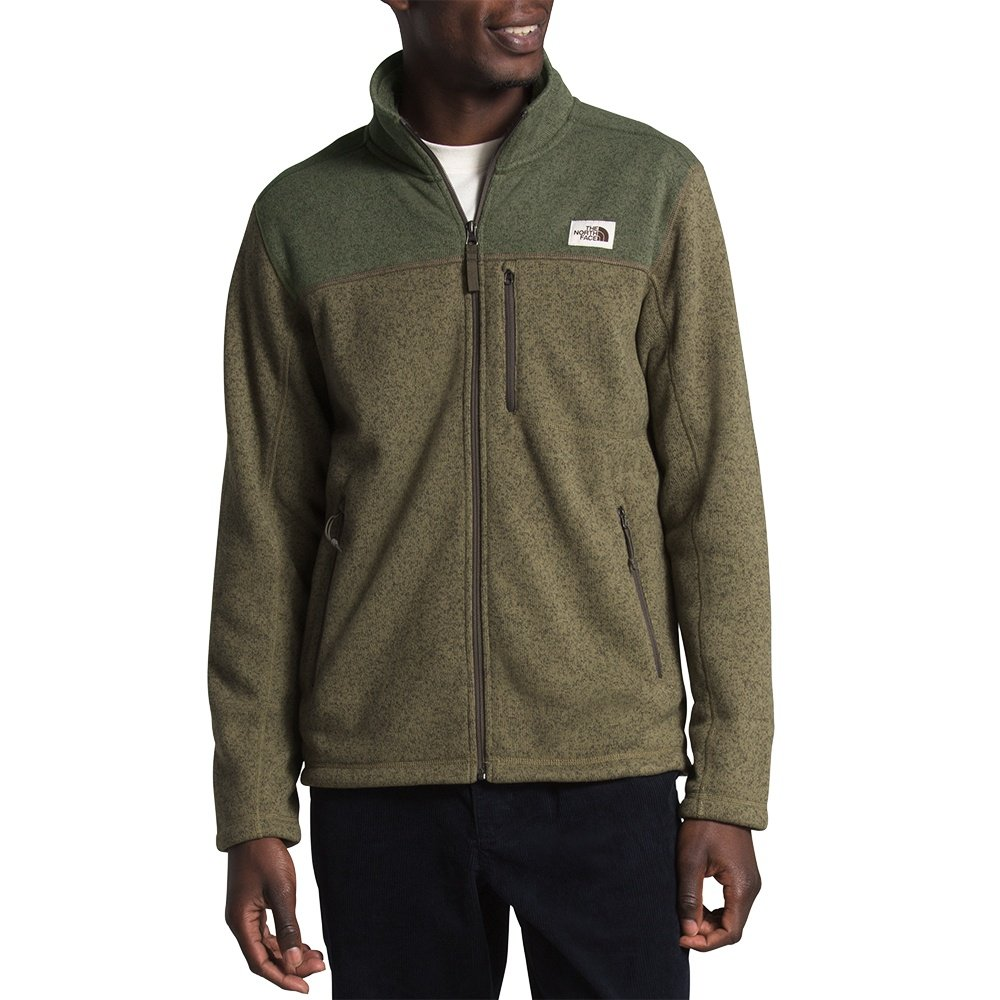 The North Face Gordon Lyons Full-Zip Fleece Jacket (Men's) - Burnt Olive Green/New Taupe Green