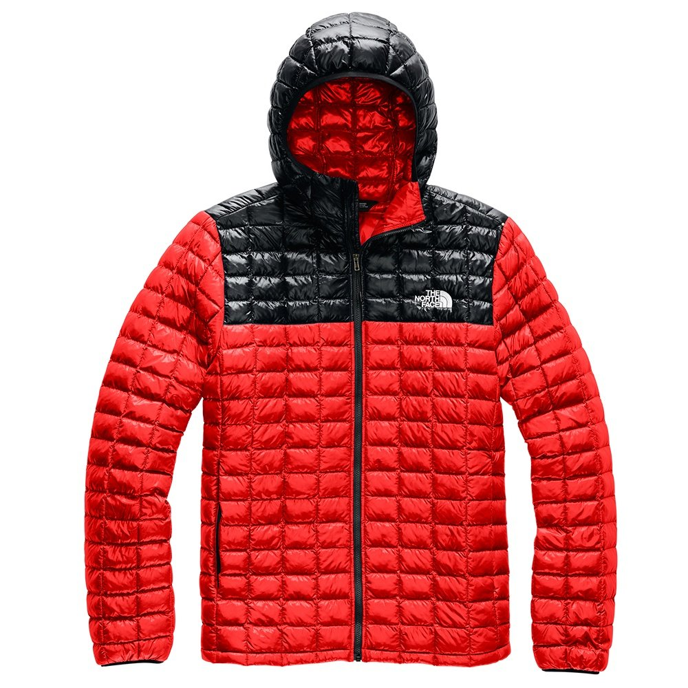 The North Face ThermoBall Eco Hoodie (Men's) - Fiery Red/TNF Black