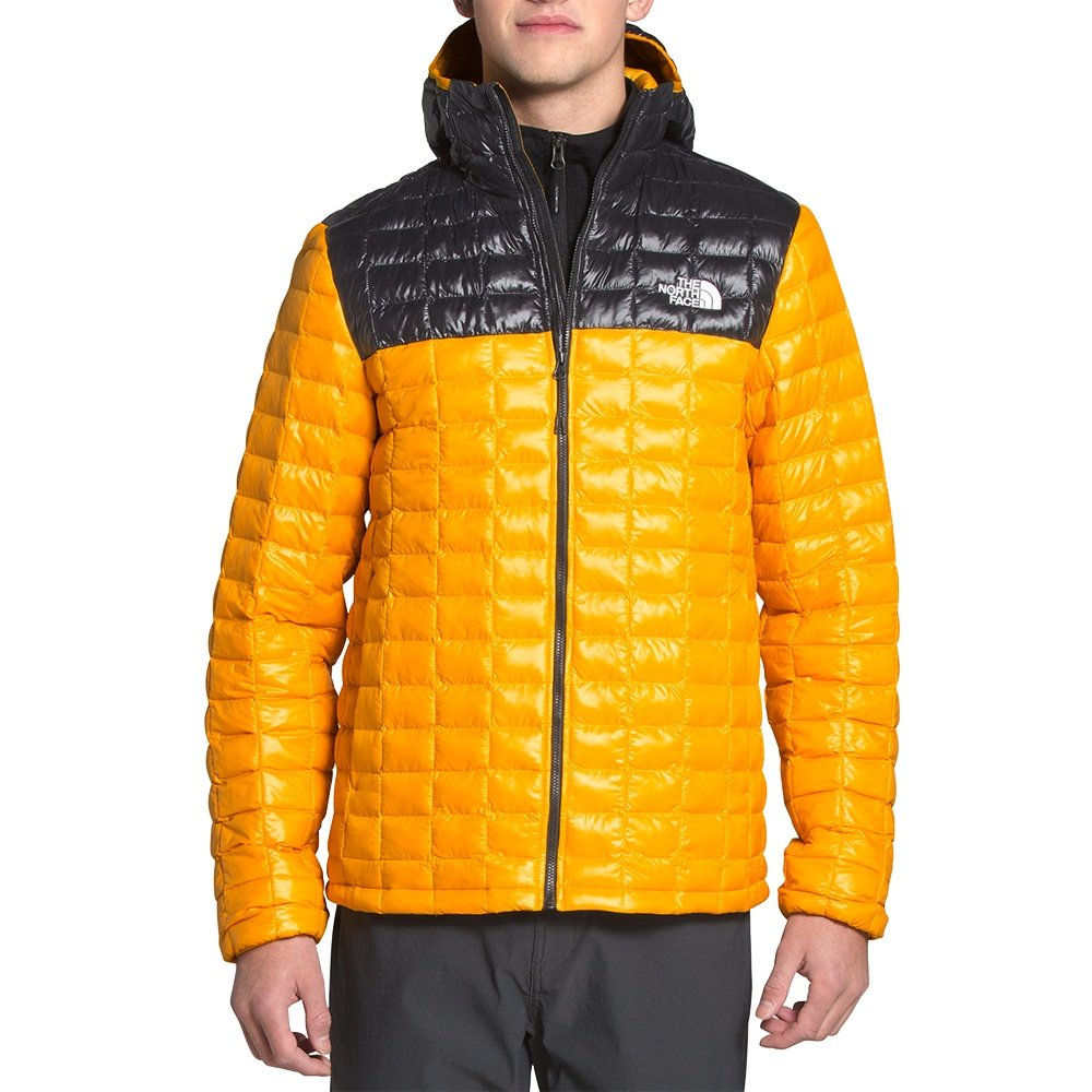 The North Face ThermoBall Eco Hoodie (Men's) - Summit Gold/TNF Black