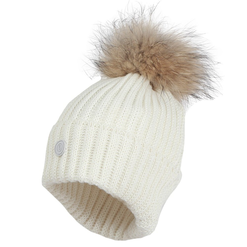Bogner Rania Hat with Real Fur Pom (Women's) - Off White