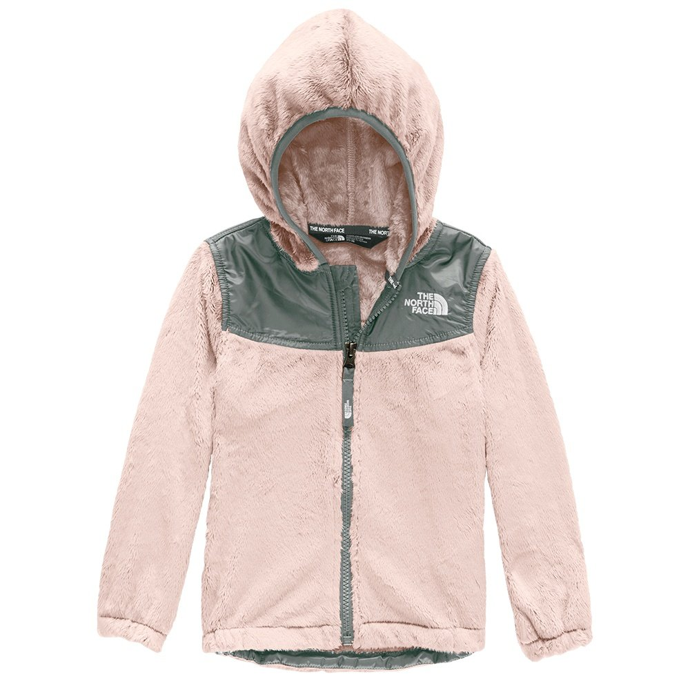 The North Face Oso Hoodie (Little Girls') - Purdy Pink/Meld Grey