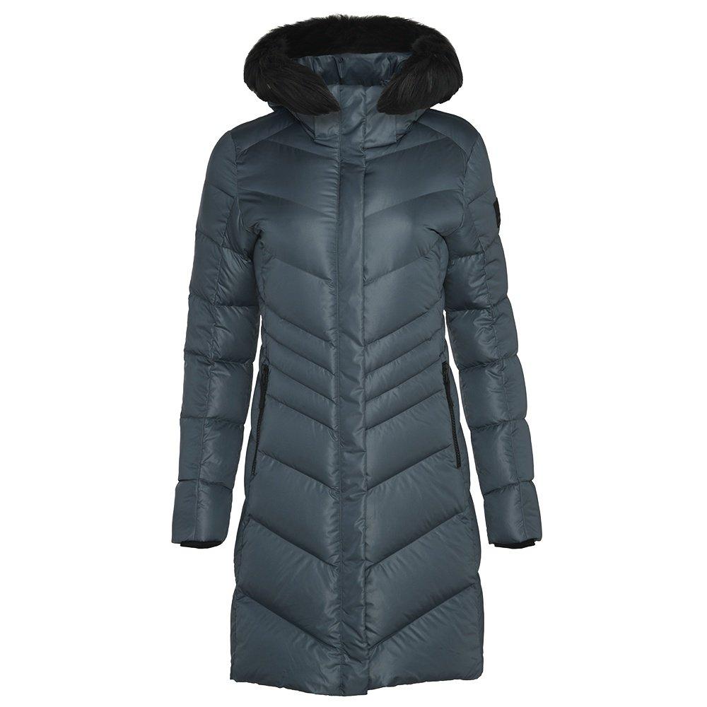 Bogner Fire + Ice Kiara2-D Down Coat with Real Fur (Women's) - Dark Grey