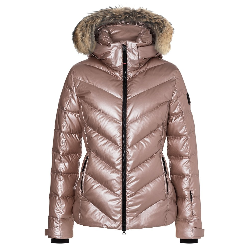 Bogner Fire + Ice Sassy2-D Down Ski Jacket with Real Fur (Women's) - Champagne Rose